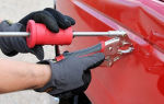 Методика локального ремонта вмятин на автомобиле специальными инструментами