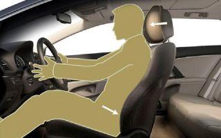Принцип действия активных подголовников в автомобиле