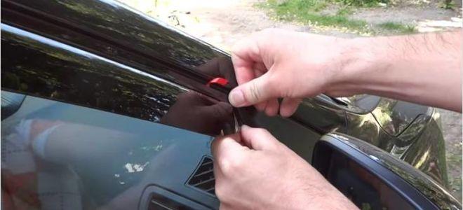 Дефлекторы на окна и капот автомобиля: инструкция по установке и снятию