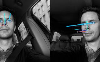 Слежение за мимикой и глазами водителя
