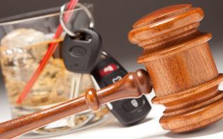 Уголовная ответственность за вождение в пьяном виде