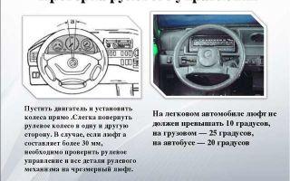 Люфт руля и другие поломки системы управления автомобилем