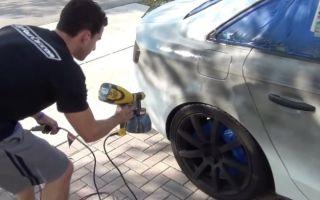 Обработка автомобиля жидкой резиной